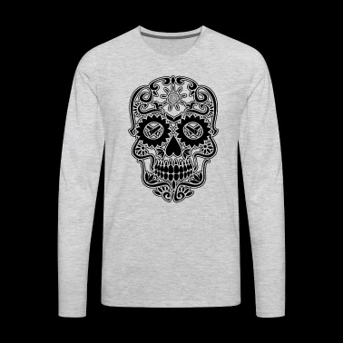 Carpenter Sugar Skull Shirt - Men's Premium Long Sleeve T-Shirt