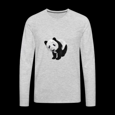 Funny Panda Shirt Gift Idea for men and women - Men's Premium Long Sleeve T-Shirt