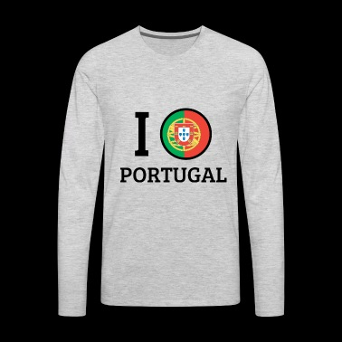 I love Portugal - Men's Premium Long Sleeve T-Shirt