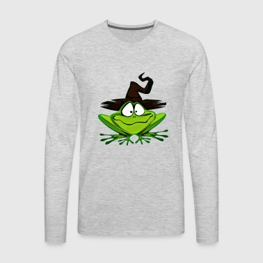 Amphibian Frog Halloween Hat Witch Wizard Gift - Men's Premium Long Sleeve T-Shirt