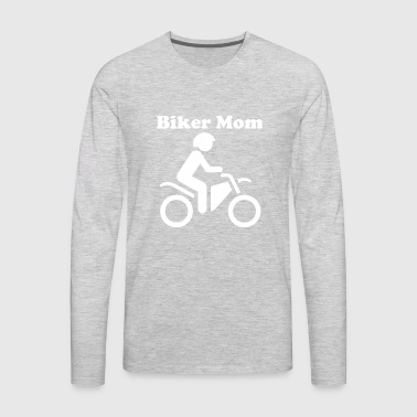 Biker Mom - Men's Premium Long Sleeve T-Shirt