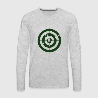 Bullseye Geometry Present Art Design Green - Men's Premium Long Sleeve T-Shirt