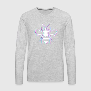 Glitch Bee Keeper Icon - Men's Premium Long Sleeve T-Shirt