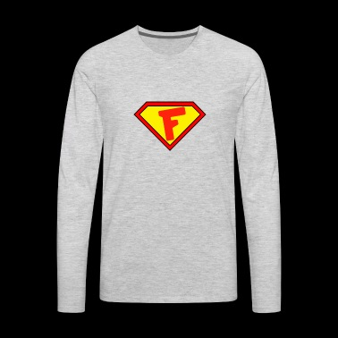 Superman personalized shirt for F name - Men's Premium Long Sleeve T-Shirt