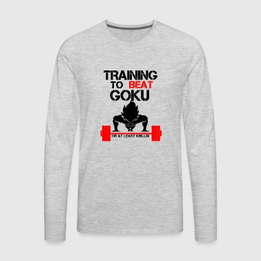 Training to beat Goku or at least Krillin - Men's Premium Long Sleeve T-Shirt