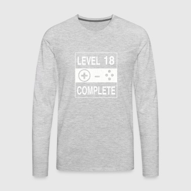 Level 18 Complete - Men's Premium Long Sleeve T-Shirt