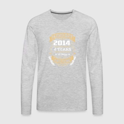 February 2014 4 Years Of Being Awesome - Men's Premium Long Sleeve T-Shirt