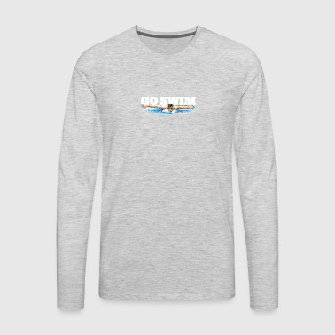 Go Swim - Men's Premium Long Sleeve T-Shirt