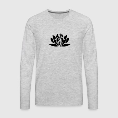 Yoga Lotus - Men's Premium Long Sleeve T-Shirt