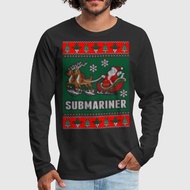 Submariner Ugly Christmas Sweater - Men's Premium Long Sleeve T-Shirt