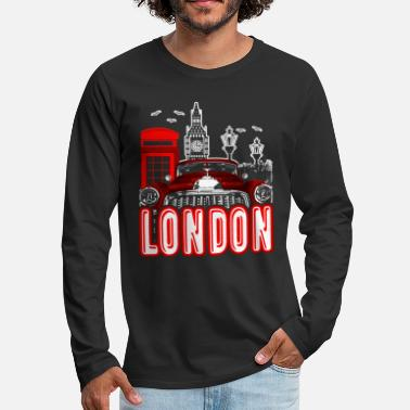 England London England Shirt - Men's Premium Long Sleeve T-Shirt