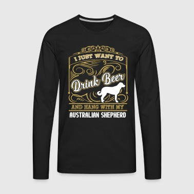 Australian Shepherd Shirt - Men's Premium Long Sleeve T-Shirt
