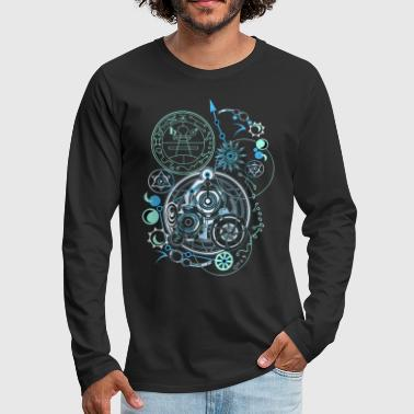 Cosmic Blueprints 1 - Men's Premium Long Sleeve T-Shirt