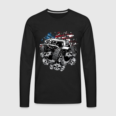 Jeep Wrangler Crawler Wht - Men's Premium Long Sleeve T-Shirt
