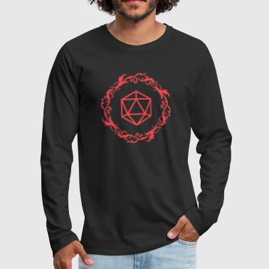 Red-dragon Red Magical Polyhedral D20 Dice Tabletop RPG - Men's Premium Long Sleeve T-Shirt