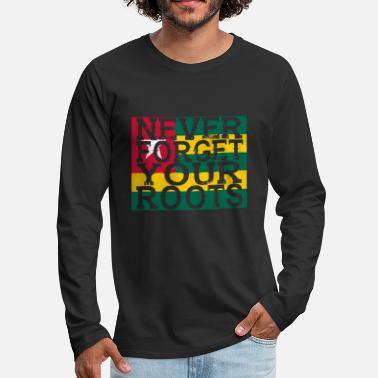 Togo never forget roots home Togo - Men's Premium Long Sleeve T-Shirt