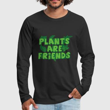 Plants, flowers, nature conservation, garden - Men's Premium Long Sleeve T-Shirt