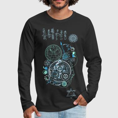 Cosmic Blueprints 2 - Men's Premium Long Sleeve T-Shirt