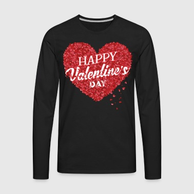 happy valentine's day, valentine - Men's Premium Long Sleeve T-Shirt