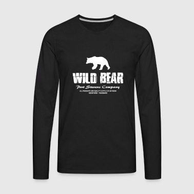 Grizzly - Wild Bear  - Men's Premium Long Sleeve T-Shirt