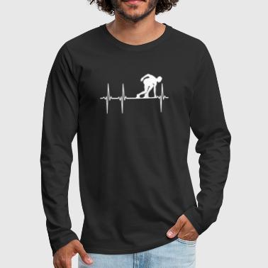 Running Heartbeat - Men's Premium Long Sleeve T-Shirt