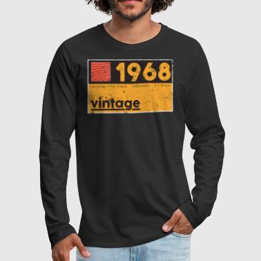 Music Producer Shirt 1968 Vintage Cassette Birthday Shirt - Men's Premium Long Sleeve T-Shirt
