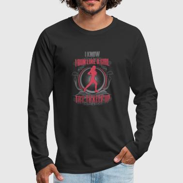 Run like a girl - Men's Premium Long Sleeve T-Shirt