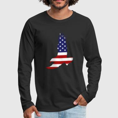 4th of July - Eagle - Men's Premium Long Sleeve T-Shirt