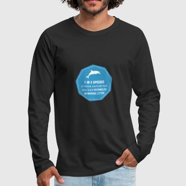 save marine mammals - Men's Premium Long Sleeve T-Shirt
