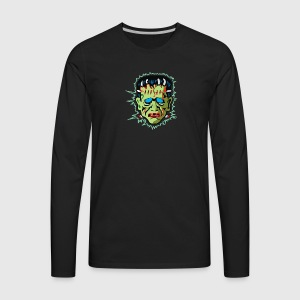 Vintage Frankenstein Mask gents long sleeve raglan