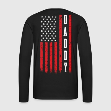 American Daddy on US Flag - Men's Premium Long Sleeve T-Shirt