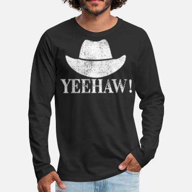 Western Riding Cowboy Western riding - Men's Premium Long Sleeve T-Shirt