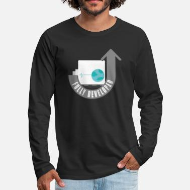 Computer Science Funny Computer Scientist Developed Shirt Bday Gift - Men's Premium Long Sleeve T-Shirt