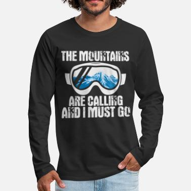 Reflection The Mountains are Calling - Ski Design - Men's Premium Longsleeve Shirt