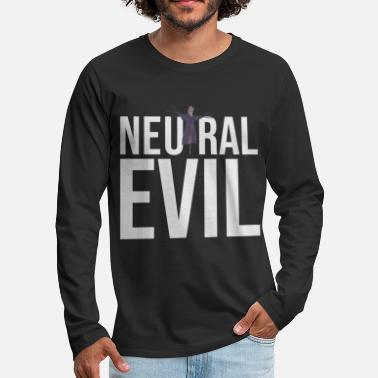 Neutral Evil - Scarecrow Graphic Text - Roleplay - Men's Premium Longsleeve Shirt