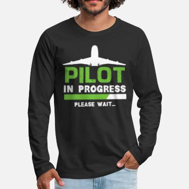 Flight School Pilot flight school - Men's Premium Longsleeve Shirt