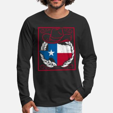 Icon Texas Old Style Iconic Country Gift Idea Shirt - Men's Premium Longsleeve Shirt
