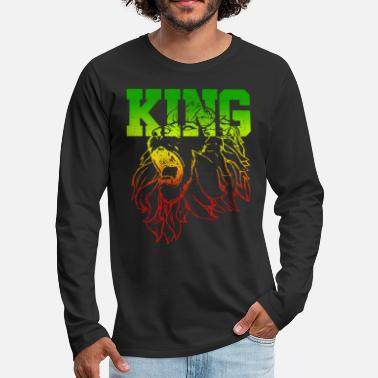 Rasta KING - Lion Of Judah - Men's Premium Longsleeve Shirt