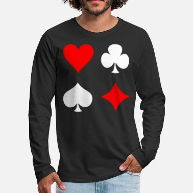 Pik Poker Cross Pik Heart Check - Men's Premium Long Sleeve T-Shirt
