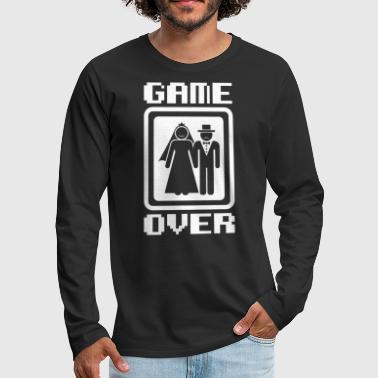 Anything Game Over tees Funny Wedding Video Gamer Groom - Men's Premium Long Sleeve T-Shirt