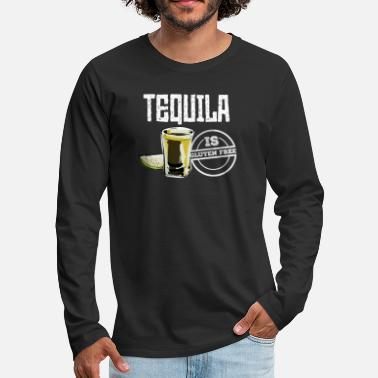 Halloween Tequila is Gluten Free Funny Drinking TShirt - Men's Premium Long Sleeve T-Shirt