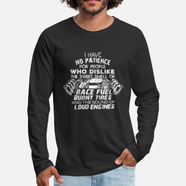 Drag Race Funny Drag Racing For Car Enthusiast And Mechanics - Men's Premium Longsleeve Shirt