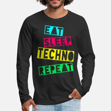 Raver EAT SLEEP TECHNO REPEAT - Men's Premium Longsleeve Shirt