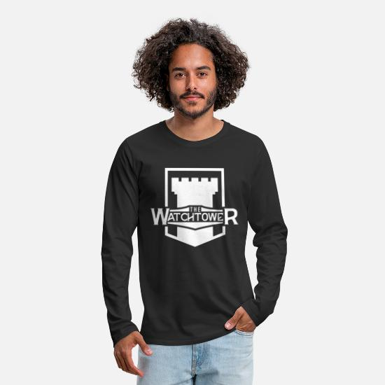 Religious Long-Sleeve Shirts - Jehovah JW Watch Tower White Cool Gift - Men's Premium Longsleeve Shirt black