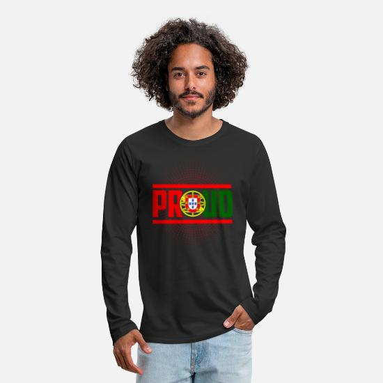 Portuguese Long-Sleeve Shirts - Proud Portugal - Men's Premium Longsleeve Shirt black