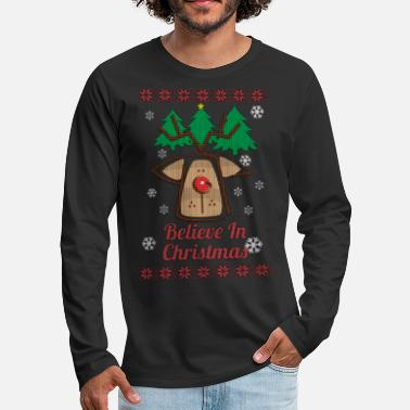Ugly Christmas Sweater - Men's Premium Long Sleeve T-Shirt