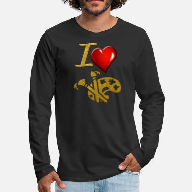 Painting Painting - Men's Premium Long Sleeve T-Shirt