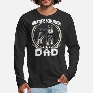 e1c993e0 Daddy Miniature Schnauzer Dad Tee Fathers Day Gifts Dog - Men's  Premium. New. Men's Premium Longsleeve Shirt