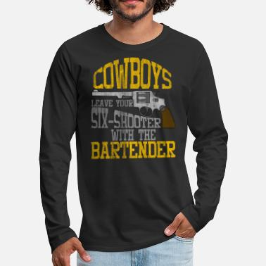 Revolver Cowboy Revolver - Men's Premium Long Sleeve T-Shirt
