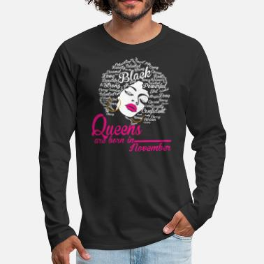 Queens are born in November - Men's Premium Long Sleeve T-Shirt